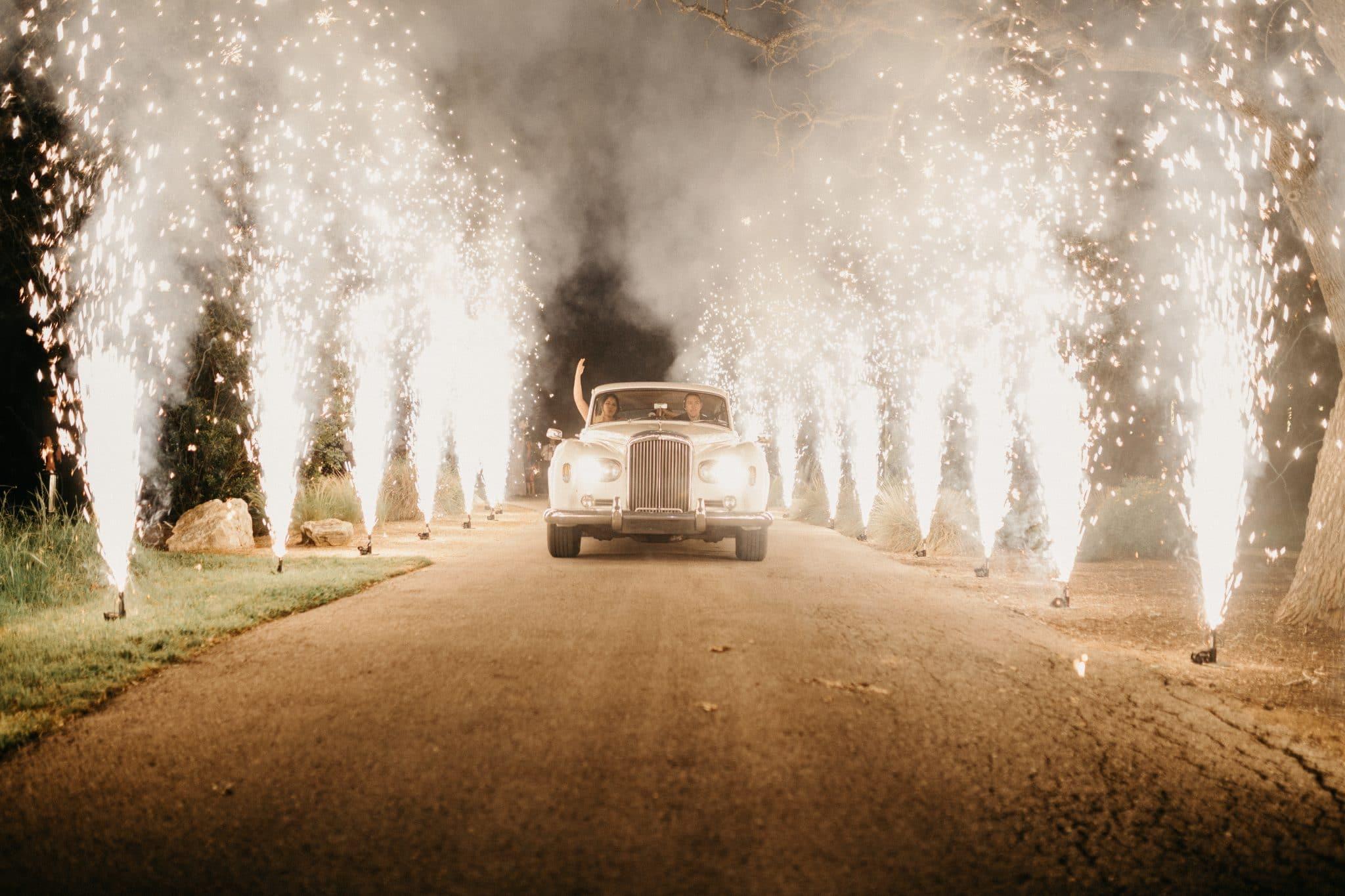 firework car exit